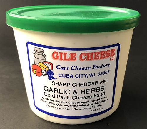 Sharp Cheddar Spread with Garlic Herb - 12 oz.
