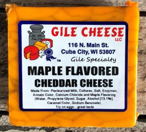 Maple Flavored Cheddar