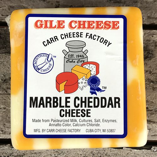 Marble Cheddar - White and Yellow Aged 2 years