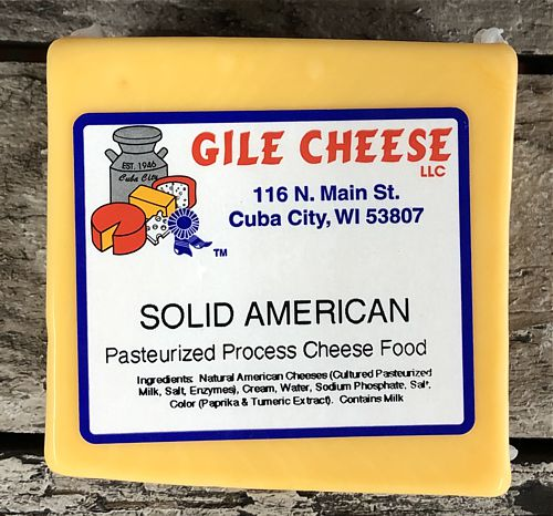 American Cheese Processed - Solid